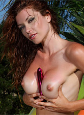 Heather Vandeven Barely Wearing Tiny Sheer Bikini